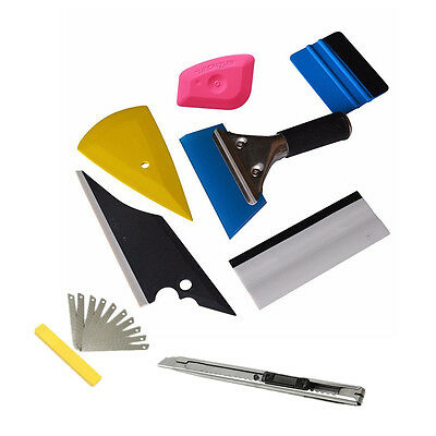 8Pcs Plastic Squeegee Car Window Tinting Auto Film Wrapping Applicator Tools Kit