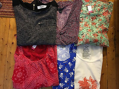 Lot of 6 Womens Assorted Style Brand Name Tops  Size Large
