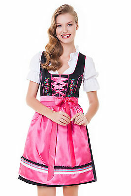 Germany,German,Trachten,May,Oktoberfest,Dirndl Dress,3-pc.Sz.10,Fuchsia,MIX.FREE
