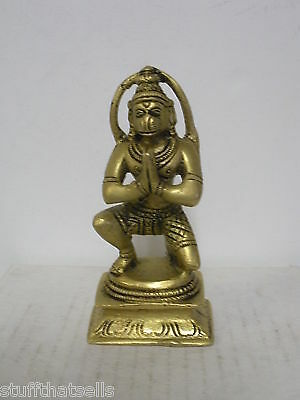 "Hanuman Statue - 4 ""-  Monkey God - Polished Brass"