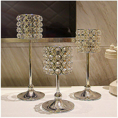 Wedding Party Centerpieces Crystal  silver Candle Holder Romantic gift Tea Light