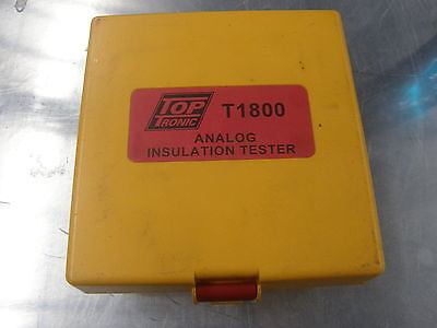 Top Tronic Analog Insulation Tester T1800