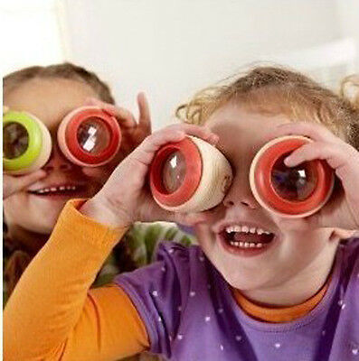 Wooden Fly's Eye Prism  Kaleidoscope Traditional Wood Toy Kids