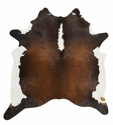 COW HIDE SKIN LUXURY NATURAL PREMIUM FLOOR RUG XL Size Approx 4.5m²  T1 **NEW**