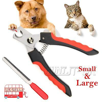 Pet Nail Dog Cat Claw Clippers Trimmer Scissors Grooming Cutters File Tool S/L