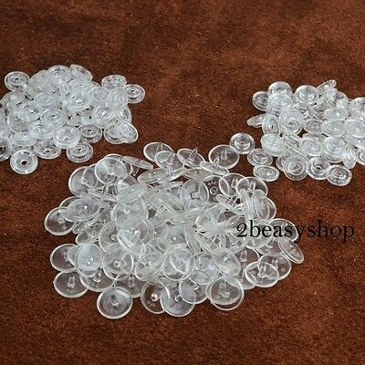 100Set Kam Size 20 Plastic Resin Clear Snaps Fasteners Button Press Stud Poppers
