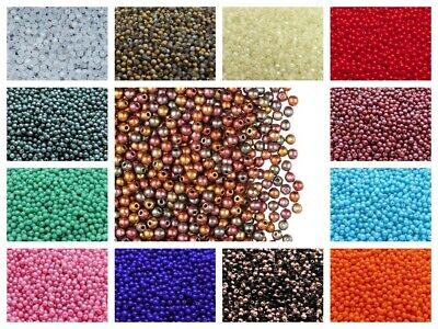 CHOOSE COLOR! 100pcs 3mm Czech Glass Round Pressed Beads