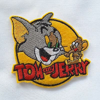 """Tom Jerry Mouse 3"""" Disney Cartoon Character Embroidered Iron-On Applique Patch"""