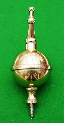 Brass ball and spire finial for antique Longcase clocks- Fantastic Quality