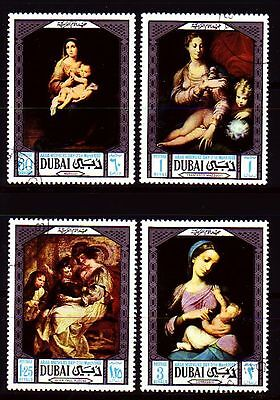 Dubai 1969 Mi.341/44 fine used c.t.o. Gemälde Paintings Rubens Murillo