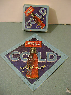 Coca Cola 70+ Piece Springbok Mini Puzzle + Box 1983 Used Complete