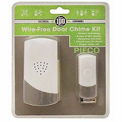 50m Plug In Digital Door Bell Chime Ringer Kit Wireless Cordless Wire Free