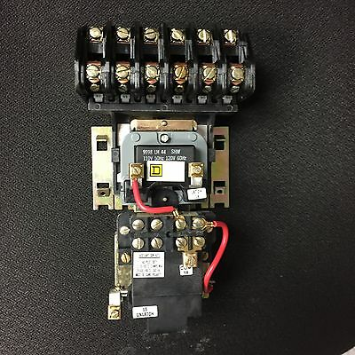 Square D contactor 6 pole latching contactor