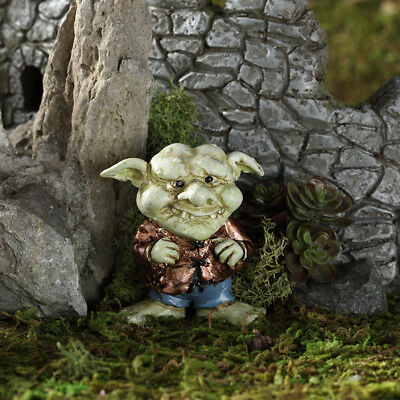 "2.25"" My Fairy Gardens Mini Figure - Unk the Troll - Miniature Figurine Decor"