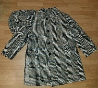 Vintage Solitaire Boy's Wool Plaid Coat And Matching Hat Tailored Warm Winter