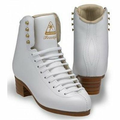 Jackson freestyle DJ2101 junior Figure Skates White BOOT ONLY- Free Postage