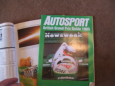Autosport 18 July 1985 British GP Guide Hunsruck & Peter Russek Rally Andy Rouse