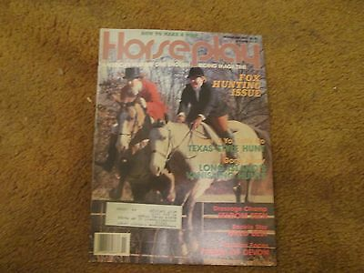 Horse Play Magazine Back Issue November 1987 fox hunting