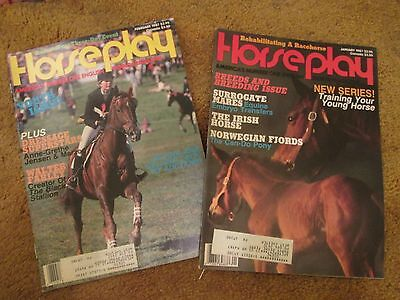 Horse Play Magazine two Back Issues Jan and Feb 1987 dressage, training