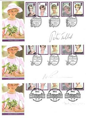 FDC Diana The Princess of Wales Signed First Day Covers Autographed by Charities