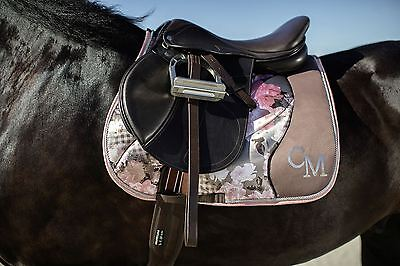 Cavallino Marino Horse Riding Equine Breathable Soft Powder Flower Saddle Cloth