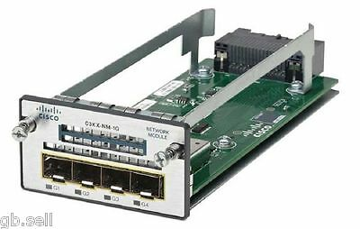 New Cisco Catalyst C3KX-NM-1G Four GbE port 1G Network Module For 3560X / 3750X