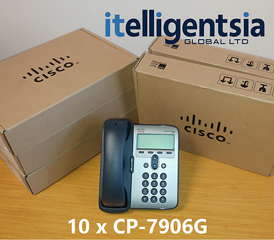 Cisco CP-7906G (New) Bundle of 10 - 1 Year Warranty - £75 ex VAT
