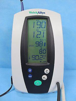 Welch Allyn 420 Spot Vital Signs Monitor 42NTB SpO2 Temp NIBP Tested w/ Warranty