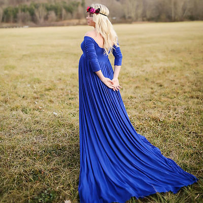 Chiffon Gown Maternity Maxi Wedding Party Dresses Photography Plus Size 5 Color