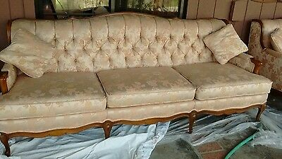 True Vintage 1960's FRENCH PROVINCIAL Couch & Loveseat