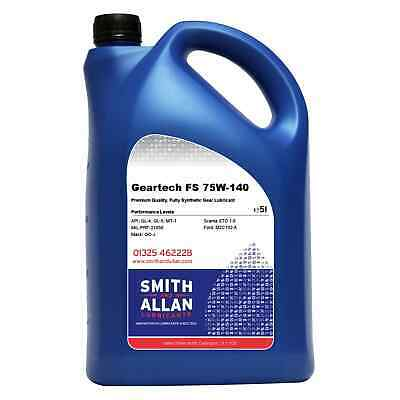 75w-140 Fully Synthetic FS Gear Differential Oil API GL-4 GL-5 Ford M2C192-A 5L