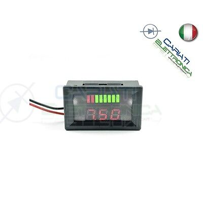 INDICATORE DI CARICA VOLTMETRO Display led per batterie al piombo 24V