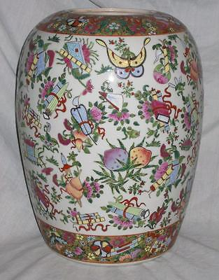 Chinese Ginger Jar, 12 Inches Tall, Rose Canton, Signed