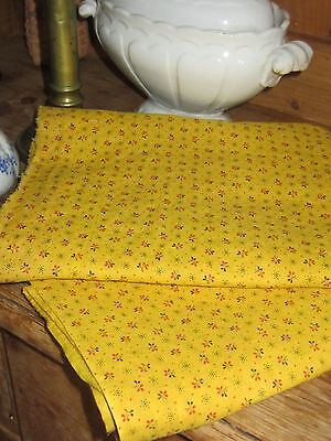 "Antique Chrome Yellow 1860-80 Cotton Fabric Uncut 20""X104"""