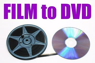 "REGULAR 8mm, SUPER 8mm FILM TO DVD OR DIGITAL FILES TRANSFER - ""B"" OPTION"