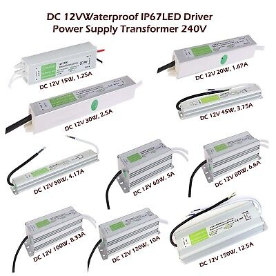 DC 12V IP67 LED Strip Water proof Driver Power Supply Transformer CCTV LED Light
