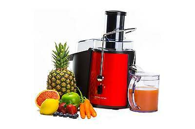 Andrew James Red Pro Whole Fruit Power Juicer Vegetable Citrus Juice Extractor