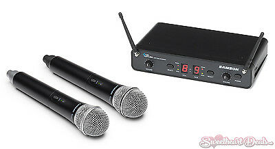 Samson Concert 288 Handheld Dual-Channel Wireless Micrphone System - H-Band