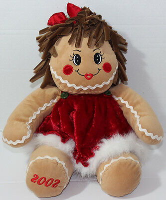 Vintage 2002 DAN DEE GINGERBREAD GIRL Stuffed Plush SOFT TOY SCENTED Doll CUTE