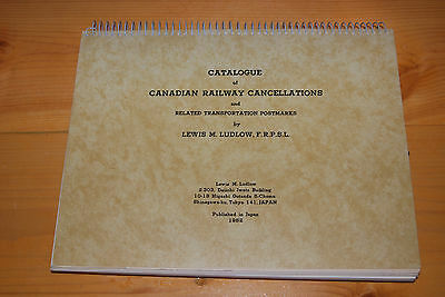 Weeda Catalogue of Canadian Railway Cancellations, Ludlow 1982 coil bound Errata