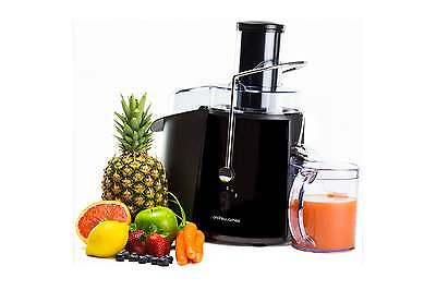 Andrew James Black Pro Whole Fruit Power Juicer Vegetable Citrus Juice Extractor