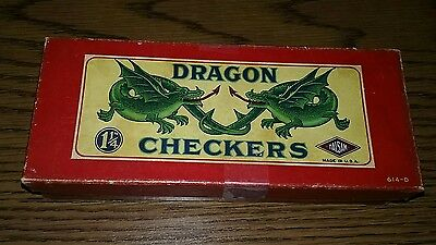 "vintage Coca Cola 1940's Dragon Checkers 1 1/4"" HALSAM - Made in USA as is"