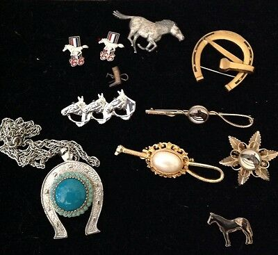 Vintage Jewelry Lot of Horses