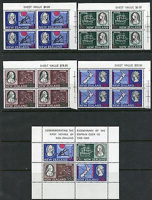 Weeda New Zealand 431-434, 434a VF MNH 1965 Captain Cook complete issue CV$47.50