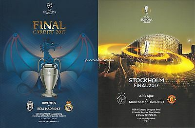 UEFA Programme Final Bundle 2017 - Champion's League / Europa League