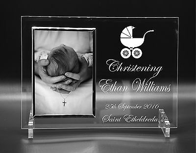 Personalised Christening Godparents Day Gift Idea Photo Frame Engraved 5 x 7