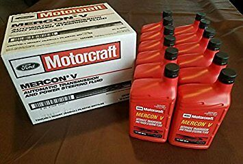 Case of 12 - 946ml (1 Quart) Bottles Ford Motorcraft Mercon V Transmission Fluid