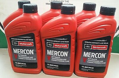Case of 6 - 946ml (1 Quart) Bottles Ford Motorcraft Mercon V Transmission Fluid