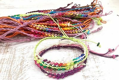 Friendship Bracelets Beaded Woven Wholesale 10 Pieces Unisex Wristband Surfer