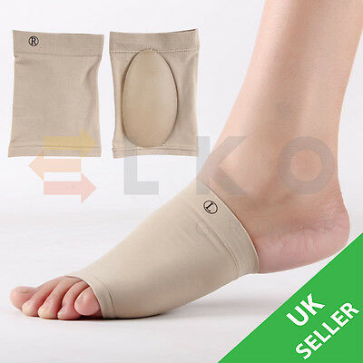 Gel Arch Support Cushion Flat Fallen Foot Pain Heel Plantar Fasciitis Orthotic